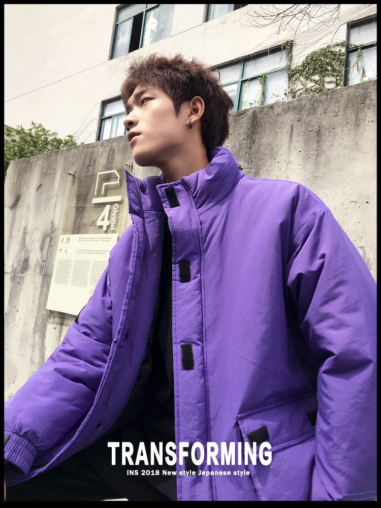 Men's Quality Student Winter Clothes Jacket Men Parka Thick Warm Outwear Korean Youth Streetwear Hip Hop Japan Style Harajuku 34