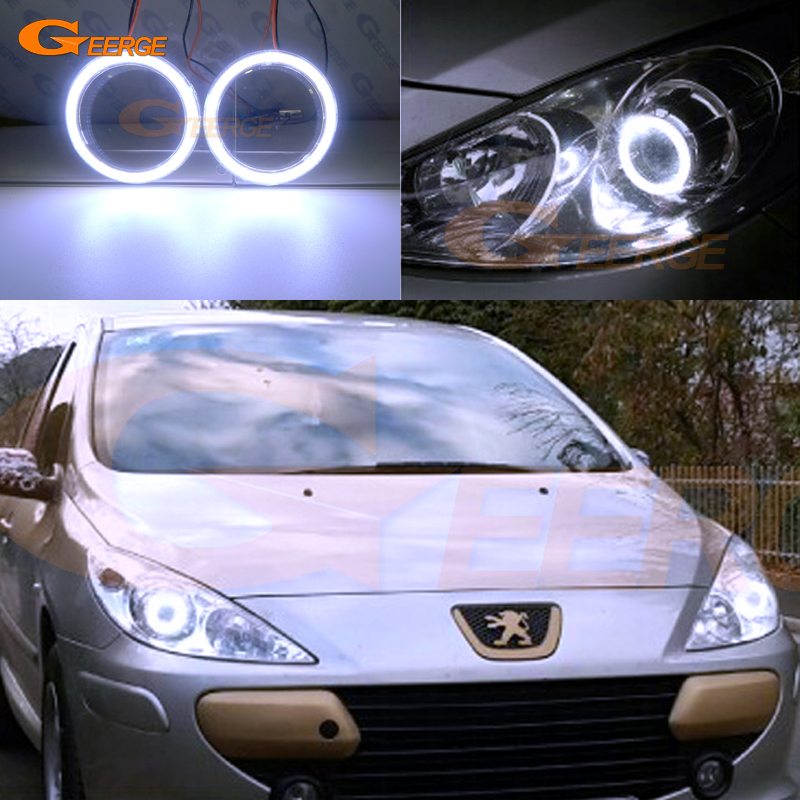For Peugeot 307 T6 2005 2006 2007 2008 2009 Excellent Ultra Bright Illumination COB Led Angel Eyes Kit Halo Rings
