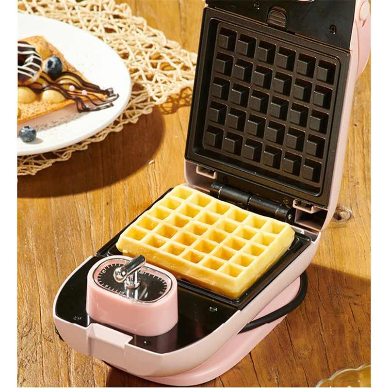 EL-3003A 700W desayuno eléctrico Waffles fabricante Mini hierro sándwich máquina burbuja huevo pastel horno cocina herramientas de cocina - 2
