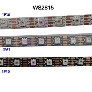 Image 1 - DC12V WS2815 pixel led streifen licht, Address Dual signal Smart,30/60/144 pixel/leds/m Schwarz/Weiß PCB,IP30/IP65/IP67
