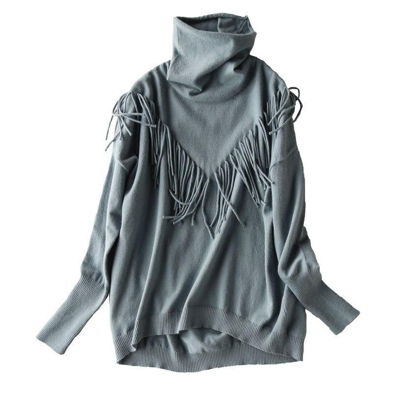 Новинка, однотонный вязаный свитер с бахромой и ворсом, женский короткий свитер, повседневная одежда, джемпер|Водолазки|   | АлиЭкспресс