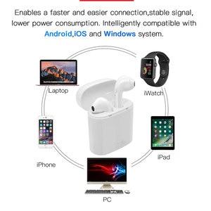 Беспроводные наушники I7s TWS, стереонаушники, Bluetooth наушники-вкладыши, наушники-вкладыши для Xiaomi, Huawei, спортивные наушники для всех смартфонов