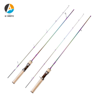 AI SHOUYU Solid Tip Trout Lure Rod UL Power 1.53m 1.68m Ultralight 1 8g 2 6lb Carbon Spinning/Casting Rod Probale Fishing Pole