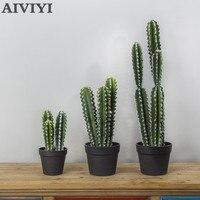 Lange Kaktus Künstliche Anlage Sukkulenten Wohnkultur Wohnzimmer Schlafzimmer Garten Dekoration Gefälschte Pflanzen Ästhetischen Zimmer Dekor Für