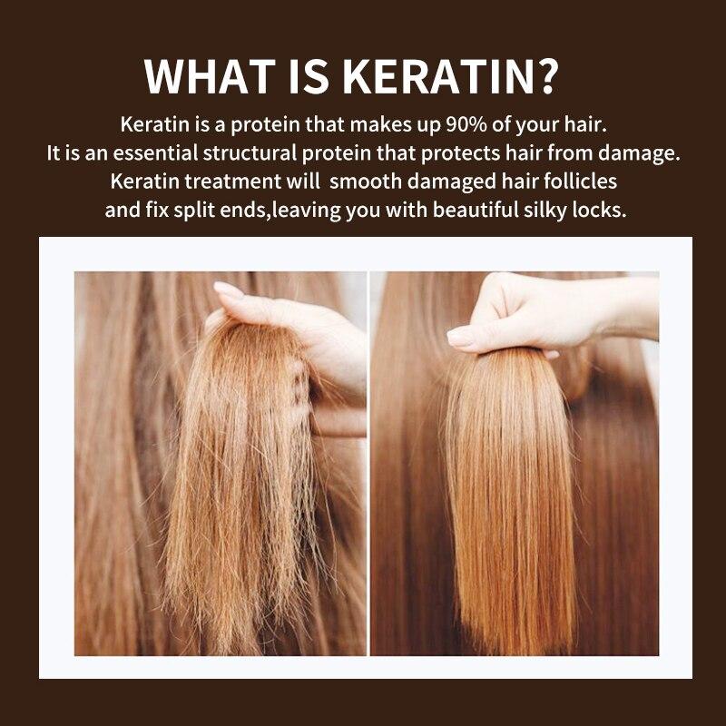 PURE Keratin Hair Repair Treatment Formalin 5% Professional Curly Hair Straightener Hair Extension Shiny Hair & Scalp Treatment 3
