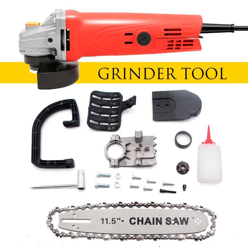 1080W 11000r/min Electric Angle Grinder For Home DIY Grinding Sanding Cutting Metal Polishing Machine Power Tool M10 Chain Saw