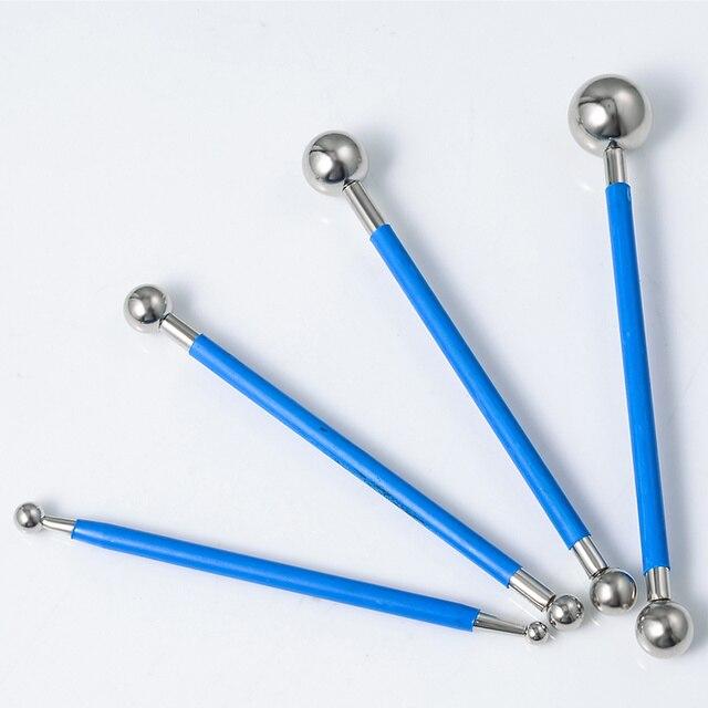 4 sztuk/zestaw podwójna stalowa tłoczona piłka fuga do płytek naprawa kij podłoga ceramiczna fuga klej gap skrobanie narzędzia budowlane