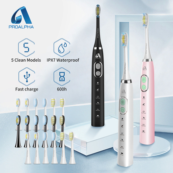 Proalpha Sonic Toothbrush Electric Tooth Brush for Travel carry Ultrasonic Automatic Upgraded Fast chargeable Adult Waterproof funho rotating electric toothbrush 2 minutes timer fast chargeable powerful sonic automatic tooth brush whitening for adult t01