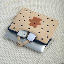 Cute Bear torba na laptopa 13 14 15 15 6 cala kobiet pokrowiec Case dla MacBook Air Pro torebka PC Tablet skrzynki pokrywa dla Xiaomi Dell tanie tanio oein CN (pochodzenie) Pokrowiec na laptopa WOMEN zipper Modna POLIESTER Nadruki z zwierzętami laptop bag