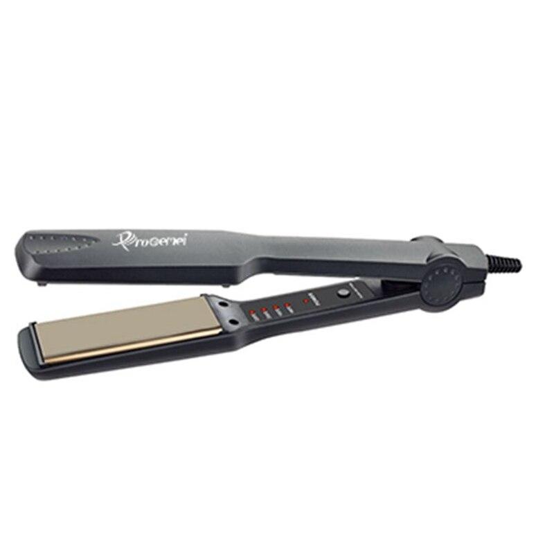 Neue ankunft Pro flache eisen begradigung eisen professionelle titanium haarglätter glättung led LICHT display platte breite 44mm
