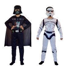 Star Wars: la montée de Skywalker dark vador Costume combinaison Cosplay Halloween enfants Clone Troopers Kylo Ren masque Costumes(China)