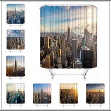 Bathroom Curtain City-Shower Polyester-Fabric Custom New York Musife High-Quality