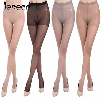 Jeseca Sexy Thin Stocking Legs Free Size High Hosiery Tights Kawaii Pantyhose Acrylic Lady Thin Shaping Female Stocking Lingerie