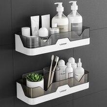 Étagère de salle de bain support organisateur, pour le rangement des toilettes de cuisine, étanche à l'huile, murale en plastique adhésif, sans perçage