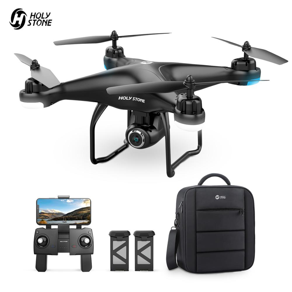 Holy Stone HS120D GPS <font><b>Drone</b></font> <font><b>FPV</b></font> Wifi Live Video 1080P HD Camera <font><b>Drone</b></font> 18 Min Flight Time 2 Batteries RC Helicopter Quadcotper image
