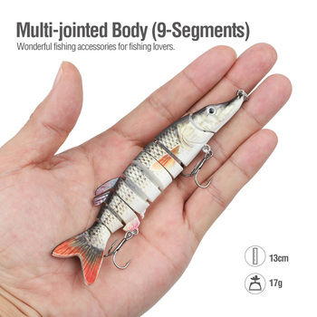 Amazing DONQL Fishing Lure Multi-Jointed 9 Segments Fishing Lures cb5feb1b7314637725a2e7: 4442|4443|4444|4445|4446|4447|4448|4449|4450|4451|4452|4453|4454|4455|4457
