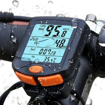 Backlight LCD Wired Bicycle Computer Bike Speed Meter Digital Cycling Speedometer Odometer Waterproof Bicycle Stopwatchs цена 2017