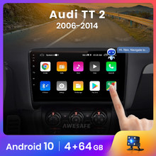 AWESAFE Control de voz PX9 Radio para Audi TT MK2 8J 2006 - 2014 Autoradio MK2 Android Car DVD GPS Navi 2Din reproductor Multimedia DSP