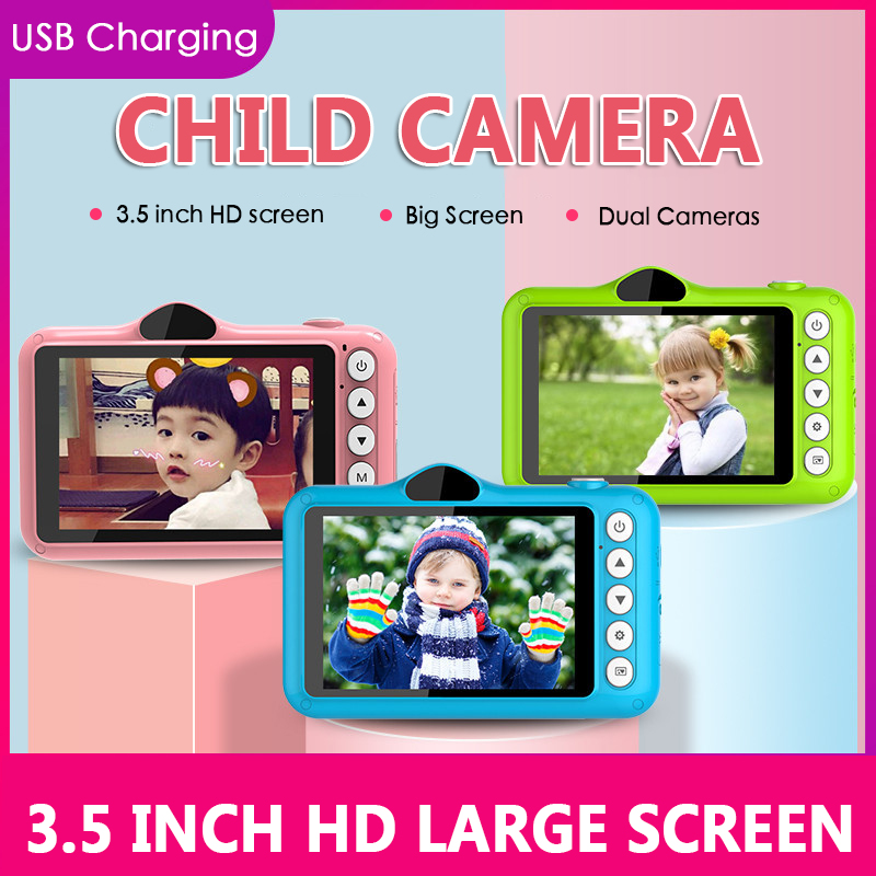 Hot 3,5 Zoll Farbe Bildschirm Kinder Digital Kamera 1080P HD Kinder Mini Digital Kamera Video Recorder Camcorder Multi-sprache