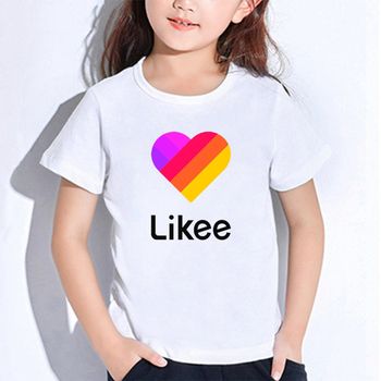 LIKEE T Shirts for Kids Baby Boys Girls Tops Tee Clothes New Russia Style Likee Children Toddler Short Sleeve T-Shirts girls monogram ruffle sleeve raglan shirts multiple colors monogramable raglans toddler girls icing shirts christmas icing tops