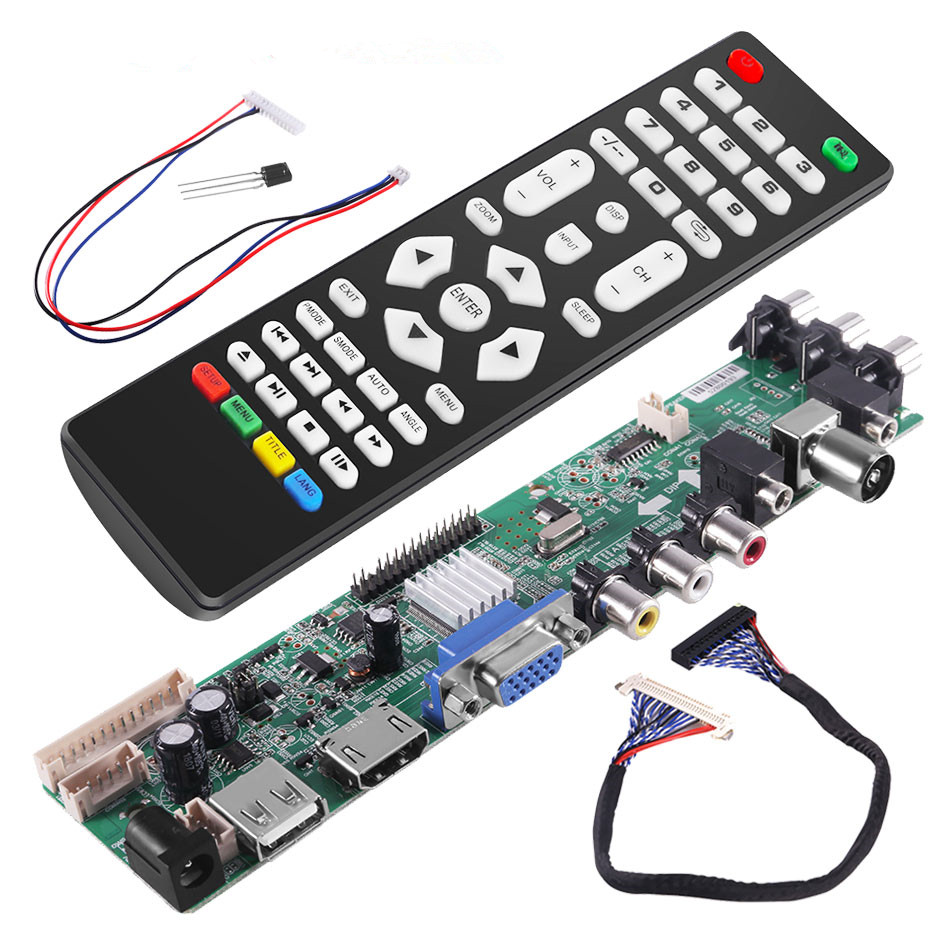 3663 Digital Signal DVB-C DVB-T2 DVB-T Universal LCD TV Controller Driver Board UPGRADE 3463A Russian UPGRADE 3463A With Lvds