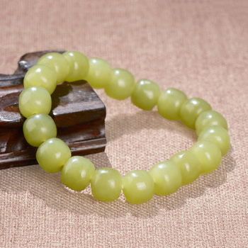 Genunine hetian green jade bracelets bangle hand-carved  jadite jade beads bracelet jade jewelry real jade bracelets bangle