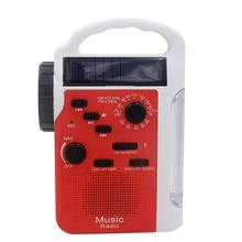 Emergency Radio Solar AM FM Hand Cranked with 13 LEDs Flashlight and 2300MAh Power Bank For Smartphone