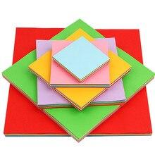 100 шт./компл. 10*10 cm Смешанные Цвет детская оригами квадратный Бумага Двусторонняя складной ручной работы Скрапбукинг Бумага для вечерние украшения