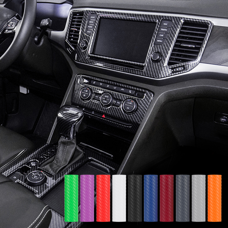 Newest Carbon Fiber Vinyl Film Car Stickers Waterproof Car Styling Wrap For Auto Vehicle Detailing Protector Sticker Films