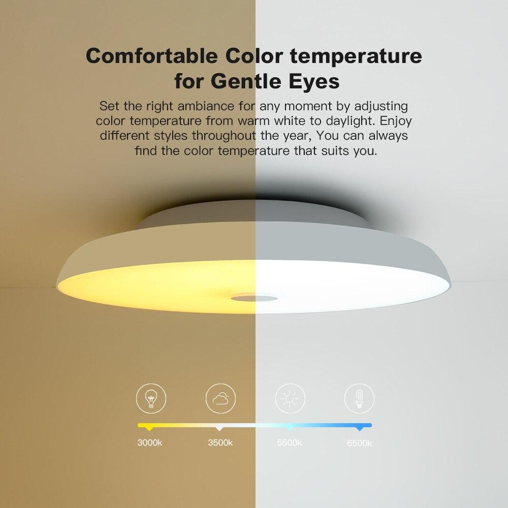 Plafond moderne à LEDs lumières Dimmable 36W 48W 72W APP télécommande Bluetooth musique lumière haut parleur foyer chambre intelligente plafonnier - 5