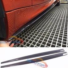 VZ стильная юбка из настоящего углеродного волокна 1 пара для BMW 1 серия E82 1 м 2011- B478