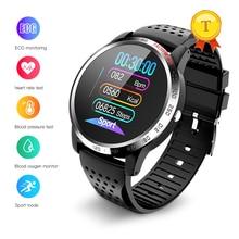 Yüksek kalite hrv spo2 ppg akıllı saat kalp hızı algılama ekg ölçüm kan basıncı akıllı saat kordonu ios android için