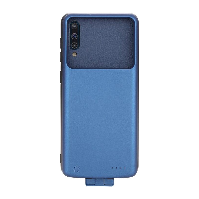 A50 Caixa de Bateria 5000mAh Caso Carregador de Bateria Para Samsung Galaxy A50 Magnético Sem Fio Estendido à prova de choque Caso banco de potência Fino