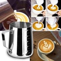 150/350/600ml 스테인레스 스틸 커피 투수 우유 공예 커피 홈 주방 라떼 Frothing 아트 주전자 투수 머그컵 3 크기|피처|홈 & 가든 -