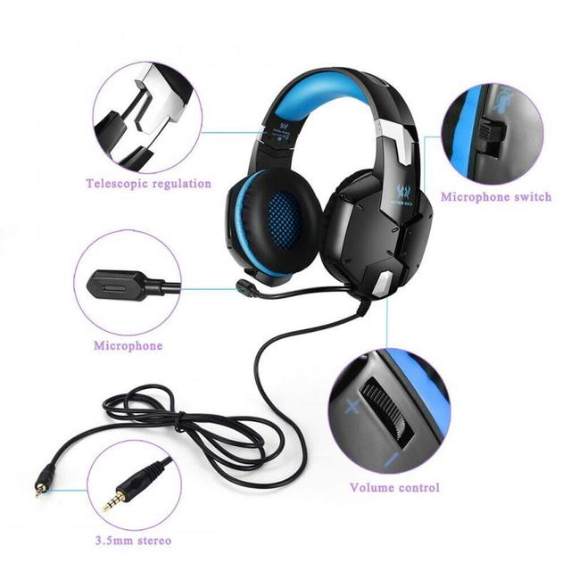 G1200 Gaming Headset Gaming Quality Stereo Surround Sound With Microphone For PC PS4 XBOX 3.5 Mm Headphone Jack 5