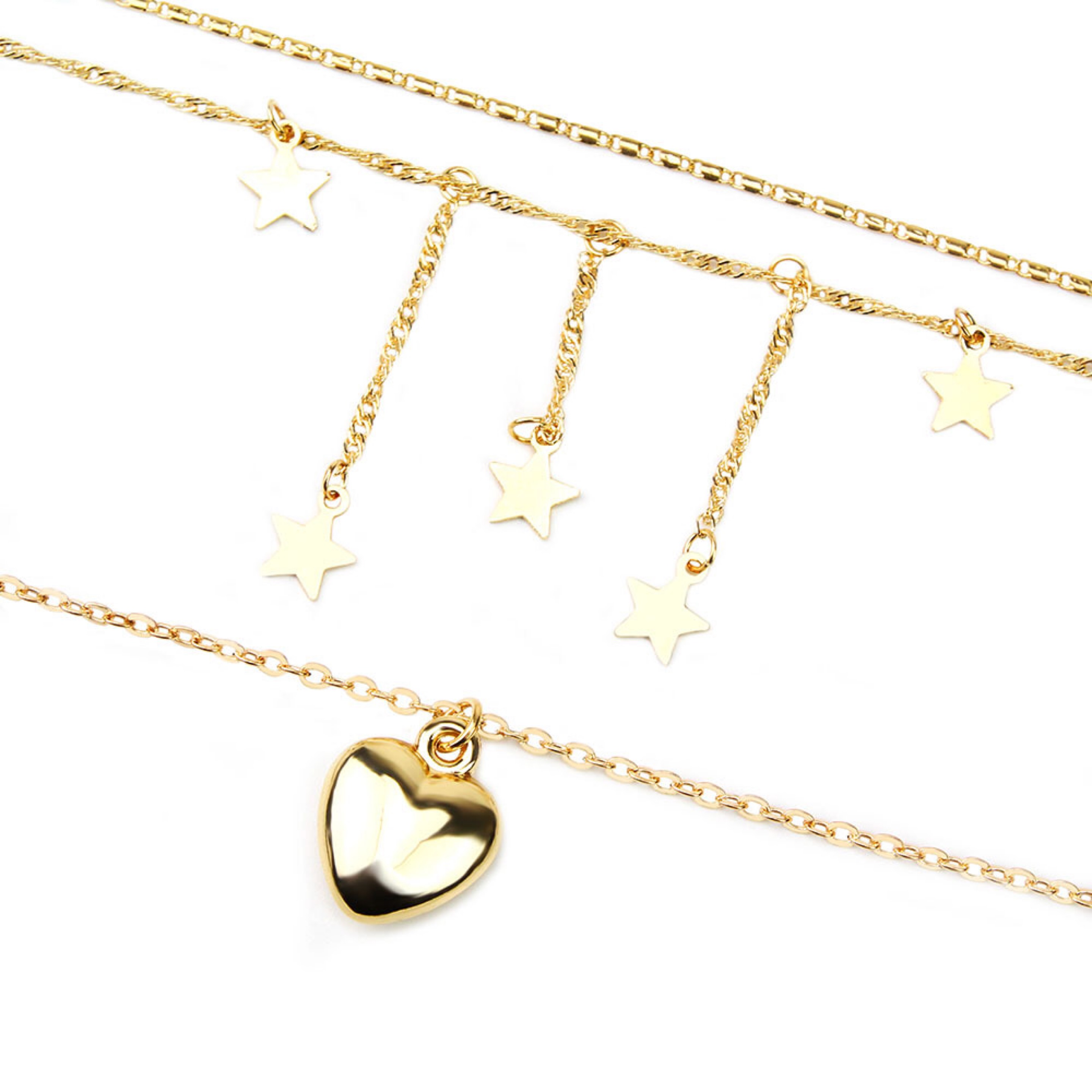Heart Multi Layer Long Chain Neckalce For Women 2019 Heart Pendant Fashion Jewelry