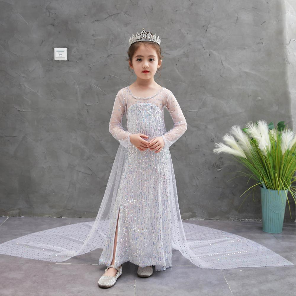Frozentwo dress children's clothing Princess girl's cosplay dress Elsa dress Girl dress birthday christmas party costume title=