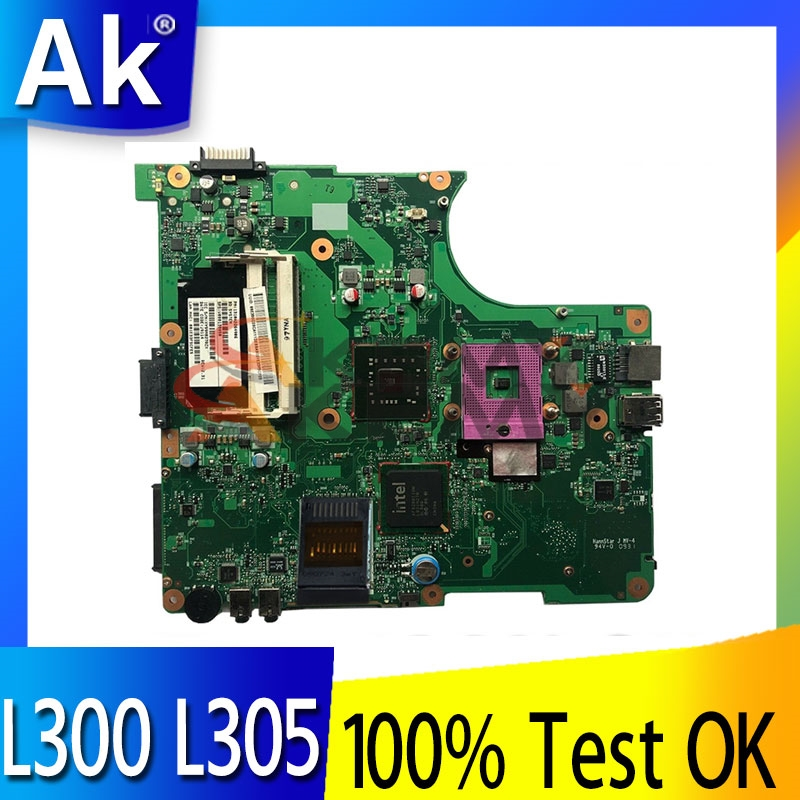 Laptop Motherboard for TOSHIBA Satellite L300 L305 V000138010 6050A2170201 GM965 GL960 free cpu V000138040 V000138030 Main board