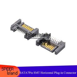 50 sztuk/100 sztuk SATA 7P 7pin SATA męski SMT poziome wtyczka PCB kabel złącze diy gniazdo interfejsu
