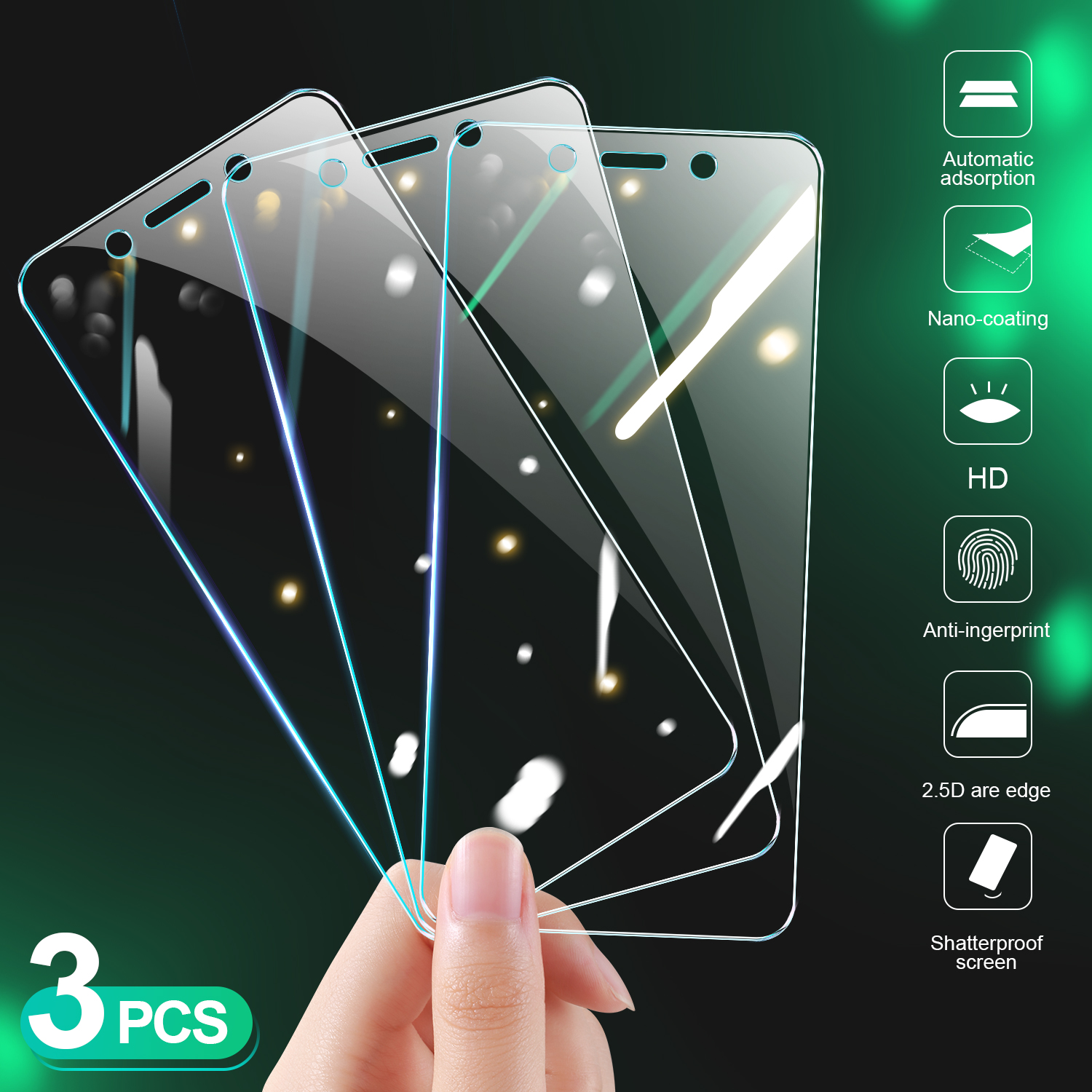 3Pcs Protective Glass On Redmi 4X 4A 5A 5 Plus S2 Film Screen Protector For Xiaomi Redmi Note 4 4X 5 5A Pro Tempered Glass 9H HD 1