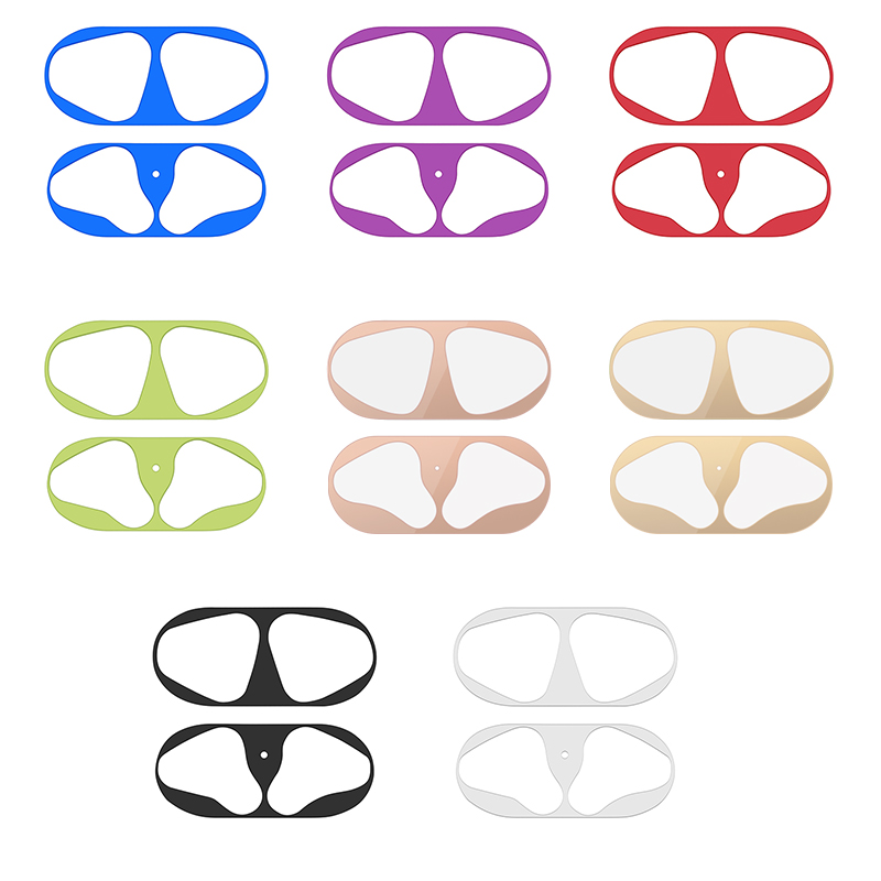 Metal Dust Guard Sticker For AirPods 1 2 Case Dust-proof Protective Sticker Skin Protector For Apple AirPods 2 1 Accessories
