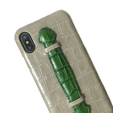 Luxury Genuine Leather Hand Strap Holder Case For iPhone X XS Max 10 Phone Cases Cute Crocodile Thin Slim Hard Cover Mixed Color