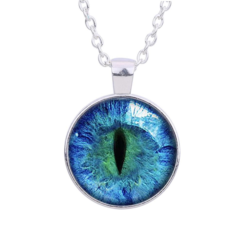 Fashion Cat Eye Handmade Necklace Charms Art Pendant For Men Women Presonality Casual Necklace Jewelry