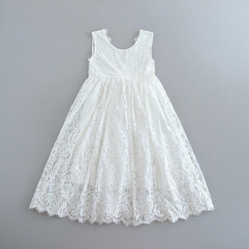 70-8-White Lace Girls Dress