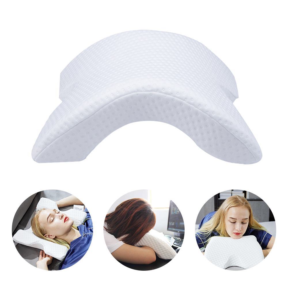 Couple Arm Pillow Arched Skeleton Lunch Break Pillow Curved Slow Rebound Memory Foam Pillow Zero Pressure For Office Napping