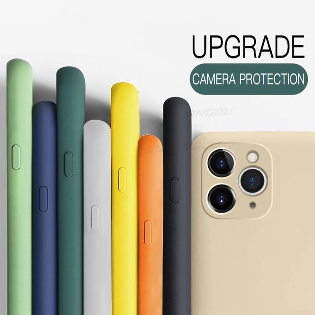 Soft Liquid Silicone Case For iPhone 12 Pro Max X XS Max 7 8 Plus Luxury Phone Case For iPhone 11 12 Pro Max 12 Mini 7 8 6 6s 3