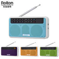 Rolton E500 6W sans fil Bluetooth haut-parleur Portable numérique FM Radio HiFi stéréo TF lecteur de musique avec affichage de LED pour PC/téléphone