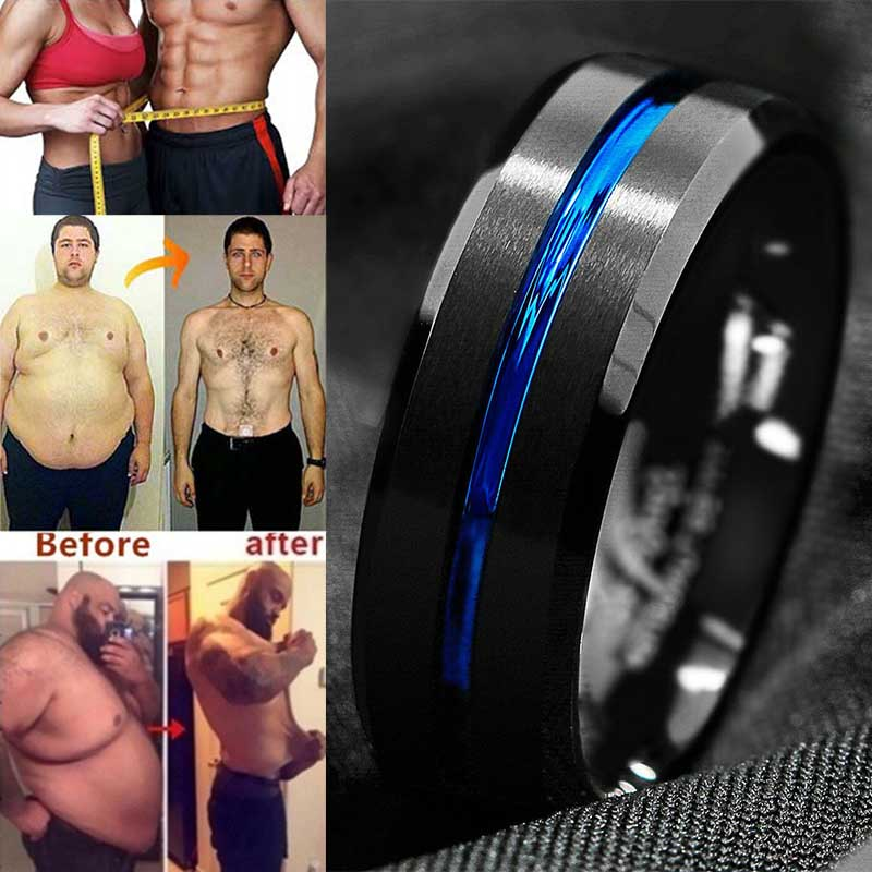 1pc Magnetic Weight Loss Ring Slimming Tools Fitness Reduce Weight Ring String Stimulating Acupoints Gallstone Ring
