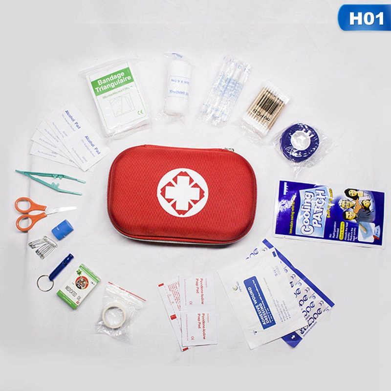19Pcs Portable Travel First Aid Kits For Home Outdoor Sports Emergency Kit Emergency Medical EVA Bag Emergency Blanket