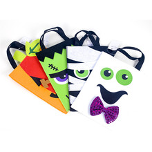 Helloween Square Portable Storage Bag Halloween Basket Felt Party Decor Bags Decoration for Home